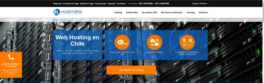 Hostname.cl empresa de hosting