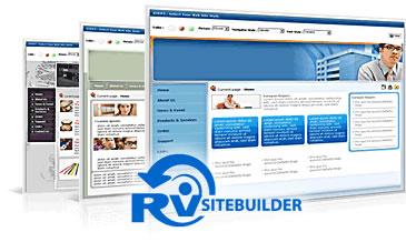 crear sitio plantillas rvsitebuilder